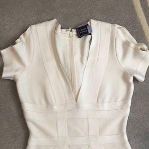 Authentic Herve leger dress white sz s